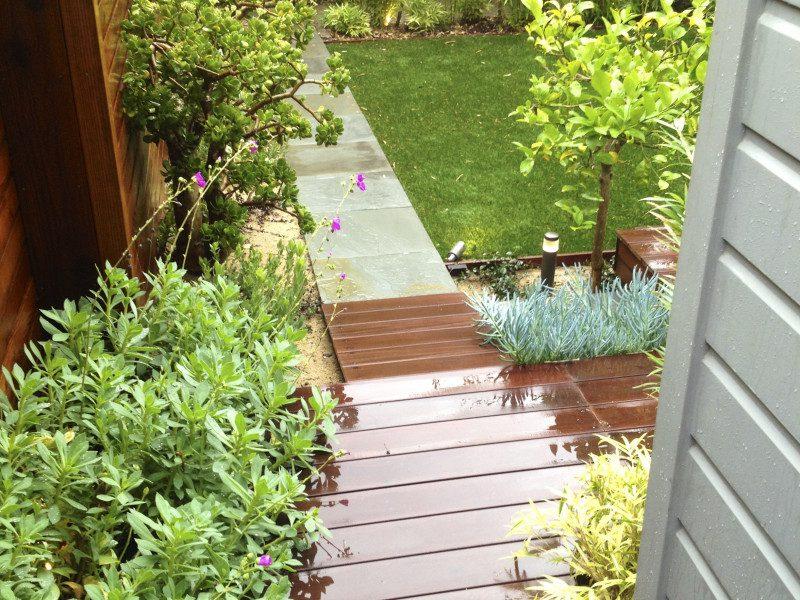entry ramp into garden
