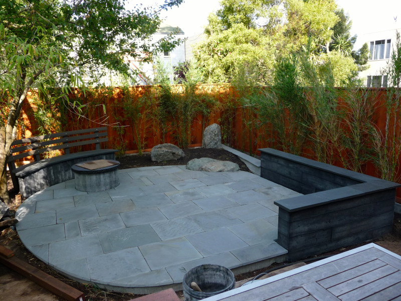 hardscapes and bamboo