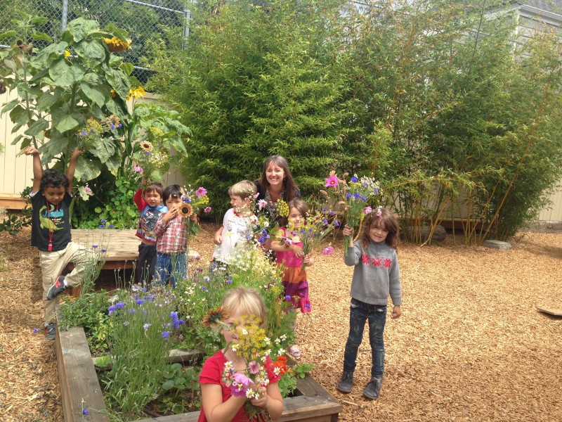 kids & flowers