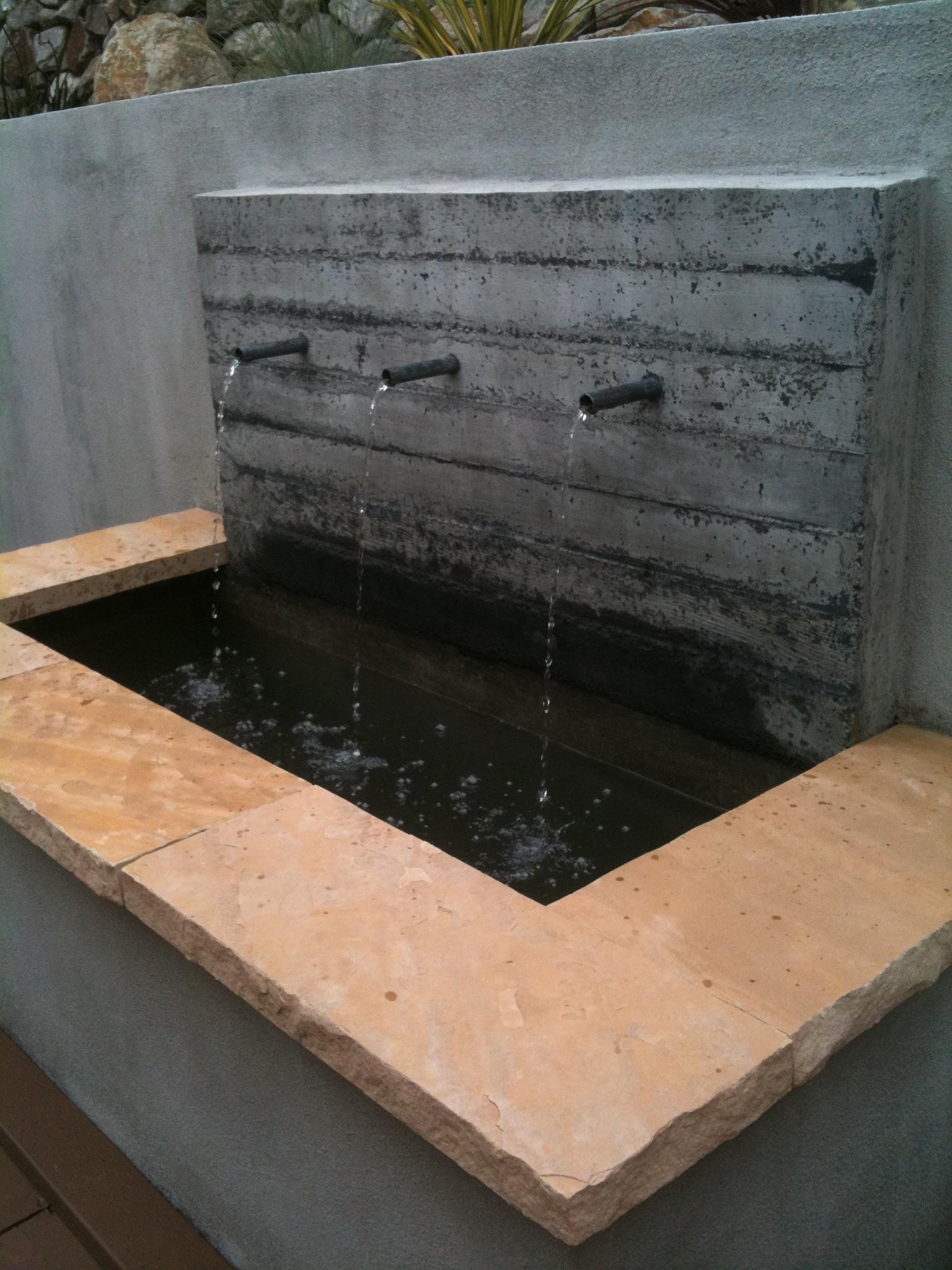 concrete fountain