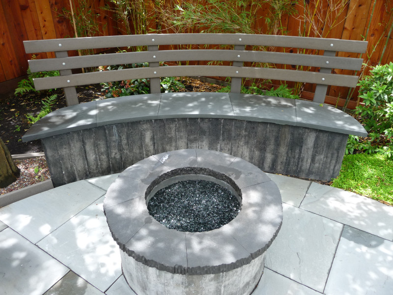 fire pit & bench