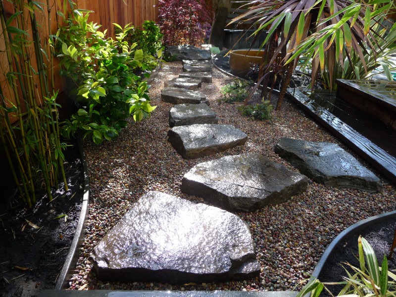 raised rock path